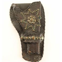 Large Single Loop Tooled and Spotted Holster