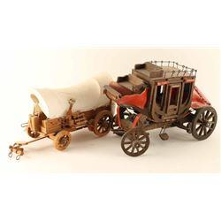 2 Decorative Wooden Wagons