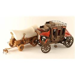 2 Decorative Wooden Wagons