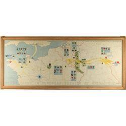 Vintage War Map