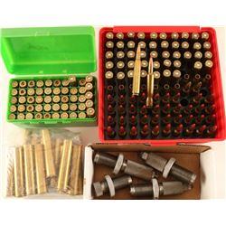 Cartridges, Brass & Dies Lot