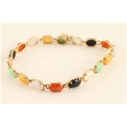 Multicolor Jade Ladies Bracelet