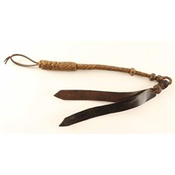 Western braided leather quirt
