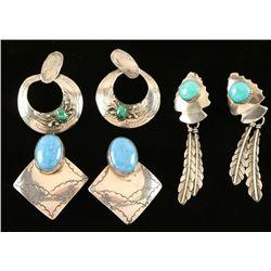 Lot of 3 Pairs of Earrings