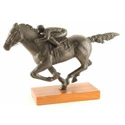 Cast Metal Race Horse and Jockey