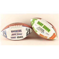 Collection of 2 Signed Footballs