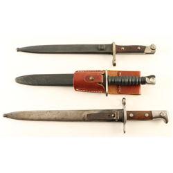Lot of 3 Bayonets.