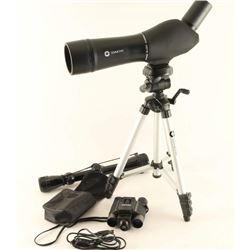 2 Scopes & Camera Binoculars
