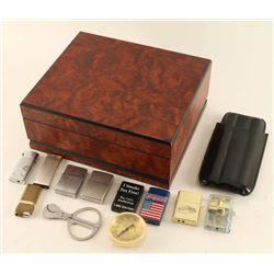 Burlwood Cigar Humidor & Lighter Collection