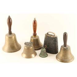 Lot of 5 Bells