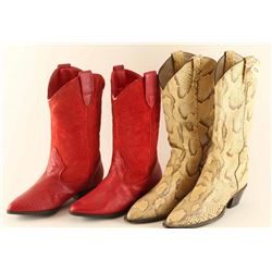 Lot of 4 Pairs of Ladies Cowboy boots