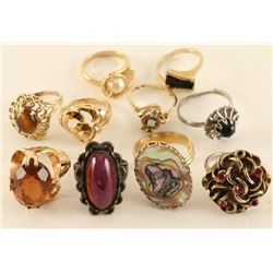 Mixed Lot of 10 Rings