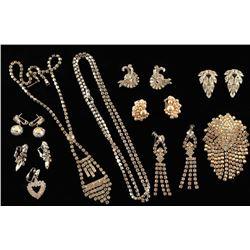 Vintage Rhinestone Jewelry Lot