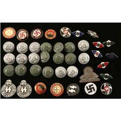 German WWII Buttons & Badges