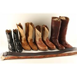 Lot of 4 Pairs of Boots