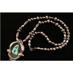 Navajo Necklace with Turquoise