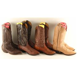 Lot of 4 Pairs of Cowboy Boots