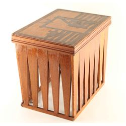 Western Corral Scene side table