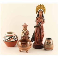 Bundle Lot Mexican Pots & Figurines