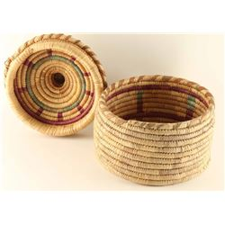 Ethnic Lidded Basket