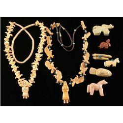 Lot of Fetishes & Hopi Fetish Necklaces