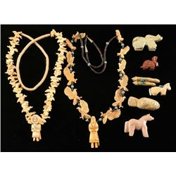 Lot of Fetishes & Hopi Fetish Necklaces