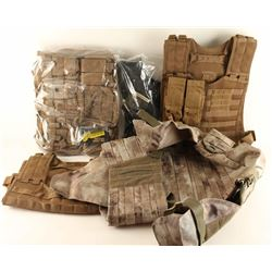 Lot of 7 Tactical & Plate Carrier Vests