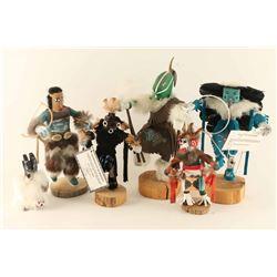Lot Of Five Navajo Kachinas