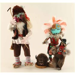 Lot of Navajo Kachinas & Doll