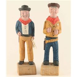 Lot of 2 Wooden Carvings