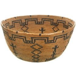 Old Apache Indian Pictorial Basket