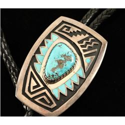 Sterling Silver & Turquoise Bolo Tie