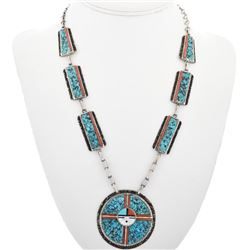 Old Pawn Turquoise Coral Necklace