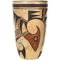 Vintage Hopi Pottery Vase Tall Cylinder Jar