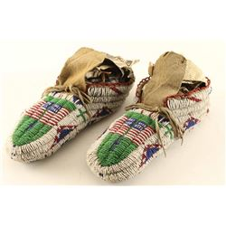 Arapaho Fully Beaded Moccasins