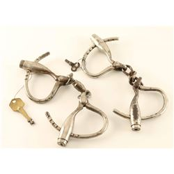 Lot of 2 Antique Handcuffs
