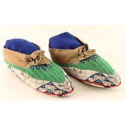 Fully Beaded Plains Indian Moccasins