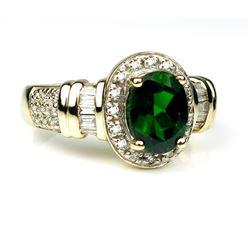 Irresistible Green Tourmaline and Diamond Ring