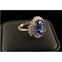 Stunning Tanzanite & Diamond Ring Set