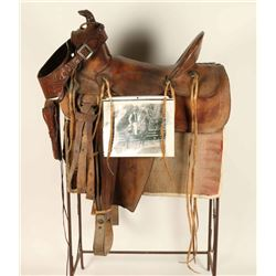 Western Herford Saddle with story