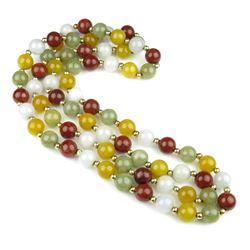 Wonderful Richly Colored Strand of Jade/Jadeite