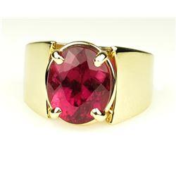 Bold and Beautiful Pink Tourmaline Ring