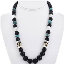Tommy Rose Singer Onyx Bead Necklace
