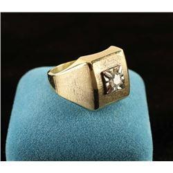 Mens Square Diamond Ring