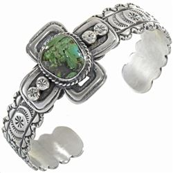 Carico Lake Turquoise Sterling Silver Cuff