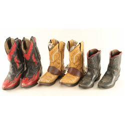 Lot of 3 Kids Cowboy Boots