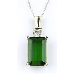 Classy Emerald cut Green Tourmaline