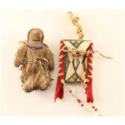 Native American Doll & Strike-A-Lite Bag