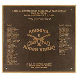 Bronze Rough Rider Plaque