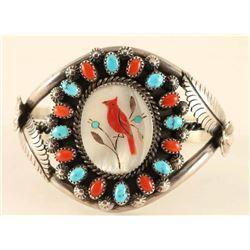 Zuni Inlaid Cuff Bracelet
